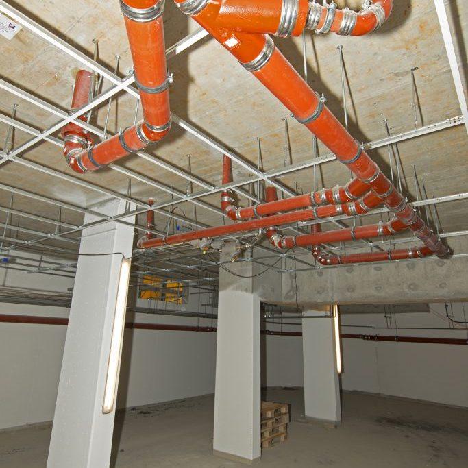 Construction site big cellar